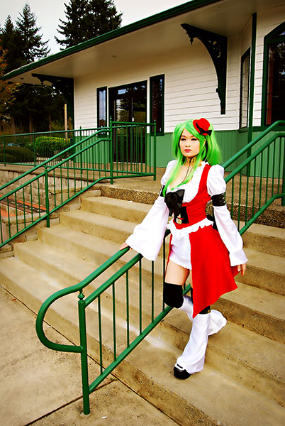 Filipina Cosplayer Jerry Polence as C.C. from Code Geass