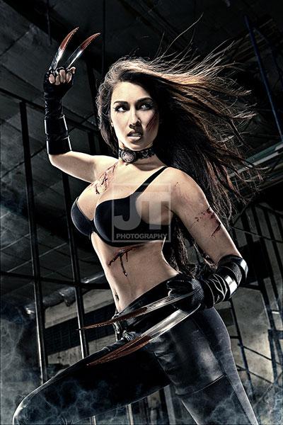 Solenn Heussaff cosplays X-23.