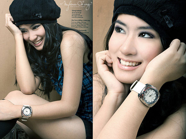 Janeena Chan Models Valentino Watches