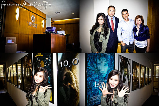 Filipina cosplay queen Alodia Gosiengfiao visits Legendary Pictures to discuss the upcoming Warcraft movie.