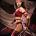 Nadine Howell cosplays Elektra.